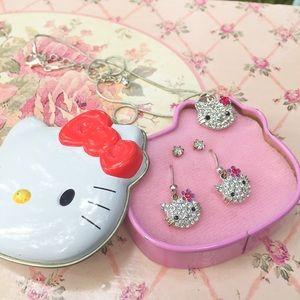 Vintage Hello Kitty jewelry set